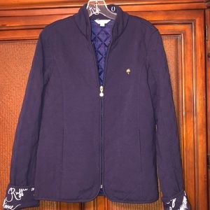 Lilly Pulitzer quilted navy jacket